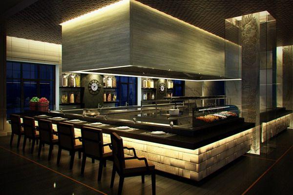 Show Restaurant Kitchen Design Image Open Kitchen Restaurant