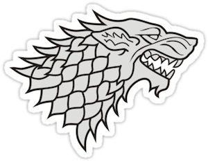 Game Of Thrones House Stark Logo Sticker House Stark Logo House Stark Homemade Stickers