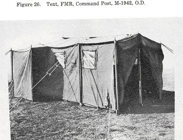 1942 military command tent - not normally used for quarters