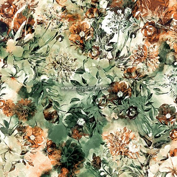Seamless #floral design @etsy http://etsy.me/1PobW9y  #fashion #patterns #texture