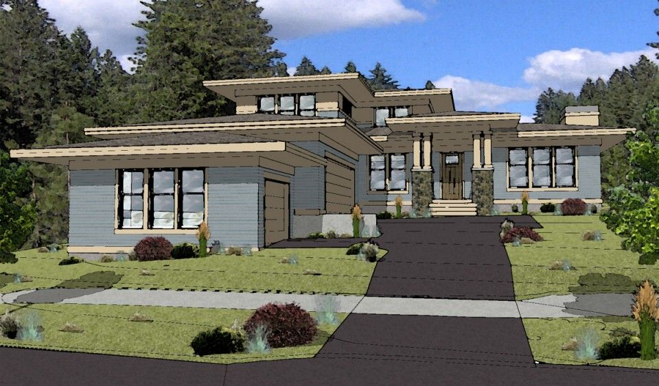 Prairie style house plan bend oregon homes i love Prairie style home