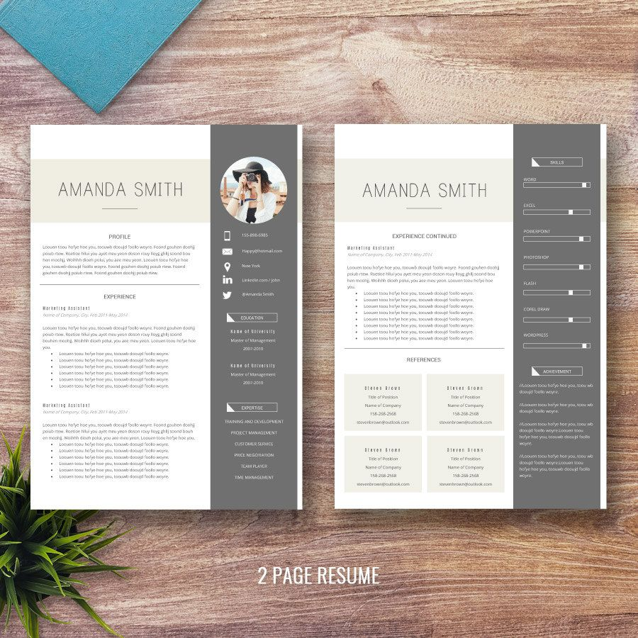 Professional Resume Template for Word 1 and 2 Page by ResumePress ...