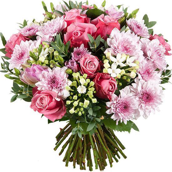 Aquarelle Com Bouquet De Fleurs De Saison Dans Une Harmonie De