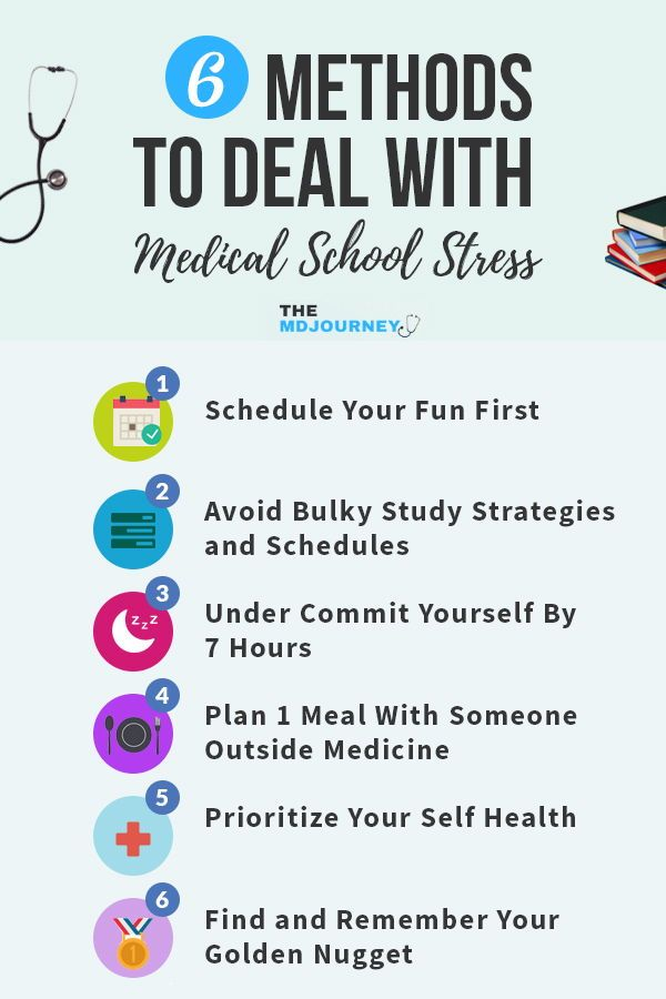 6 Methods To Deal With Medical School Stress - TheMDJourney #medicalstudents