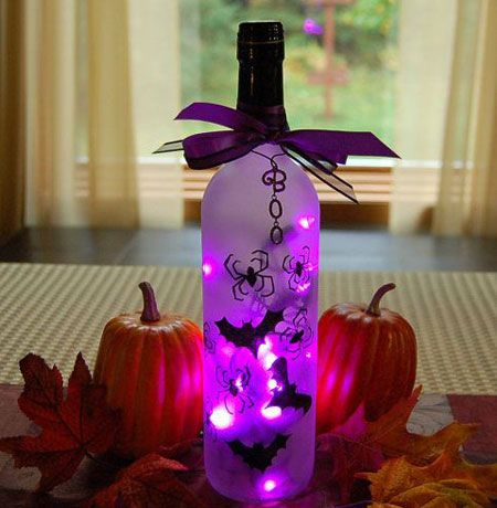 Halloween Bottle Decorations Halloween Bottle Project  The Home Front  Pinterest  Halloween