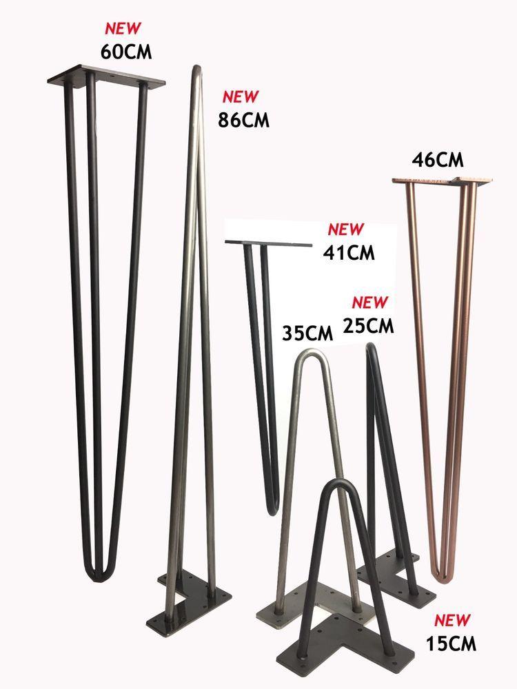 Hairpin Table Legs (PRICE PER LEG) Size  4-40