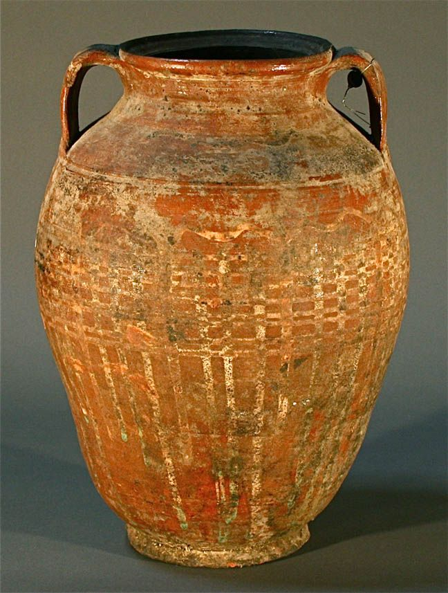 Beautiful large antique pottery earthenware jar vessel  Antique pottery, Ancient pottery