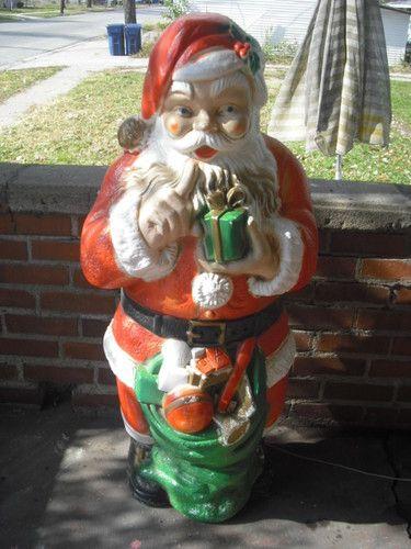 HUGE Vintage Christmas Blow Mold 45\