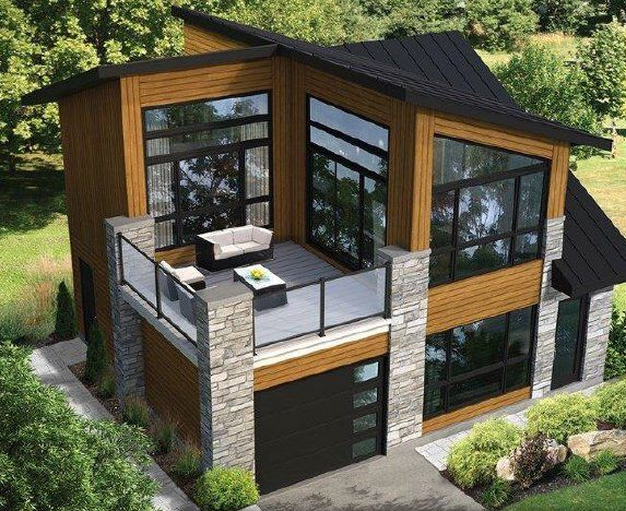 Contemporary Houses Pack 10 Houses Second Floor Deck House Plan Pdf File House Plans Floor In 2020 Small Modern House Plans Modern Tiny House Small Modern Home