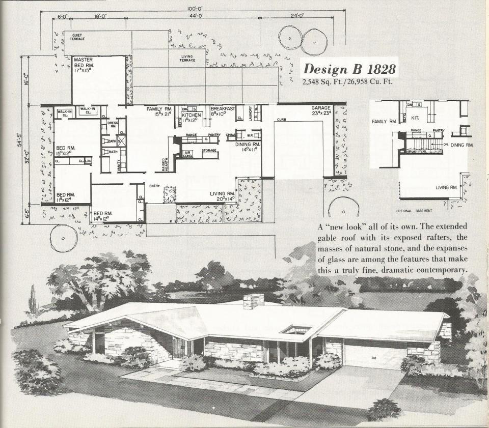 Vintage house plans vintage homes mid century homes for Mid century ranch home plans