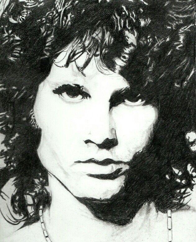 Jim Morrison Dibujo A Lapiz