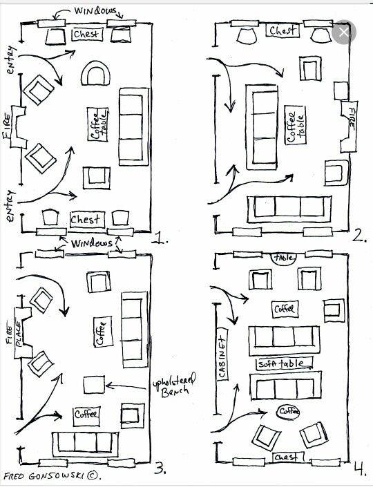 Layout Options Rectangular Living Rooms Livingroom Layout Living Room Furniture Arrangement