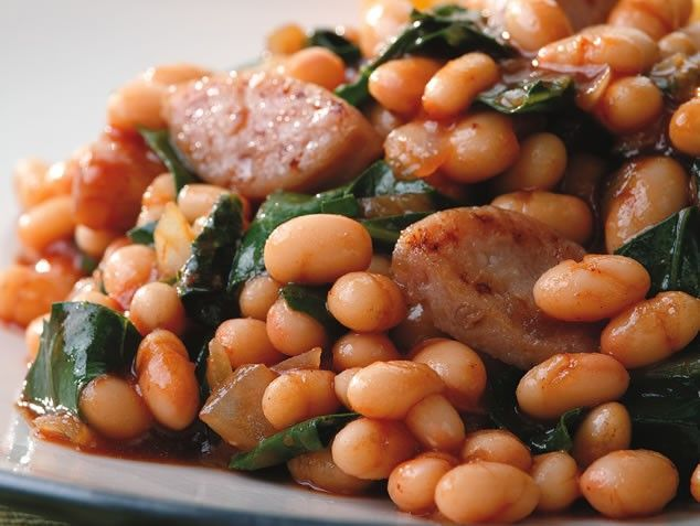 BBQ Baked Beans & Sausage, 10 Minute Recipes