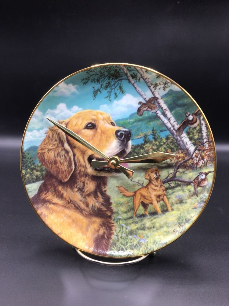 Details About Proud And Pretty Golden Retriever Collector Plate