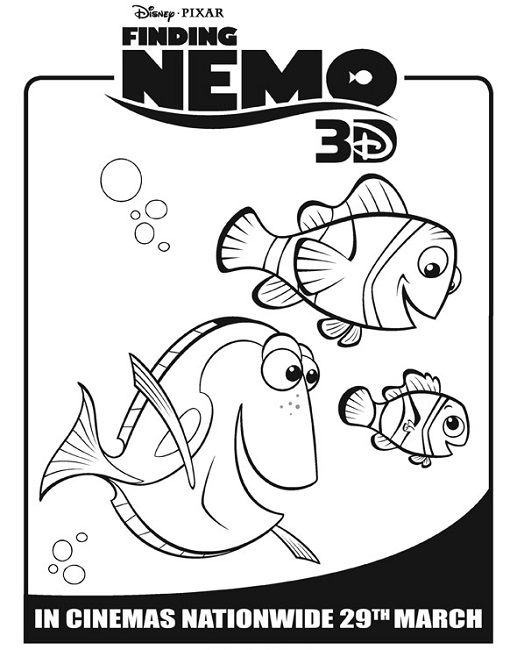 finding nemo 3d coloring pages | Disney | Pinterest