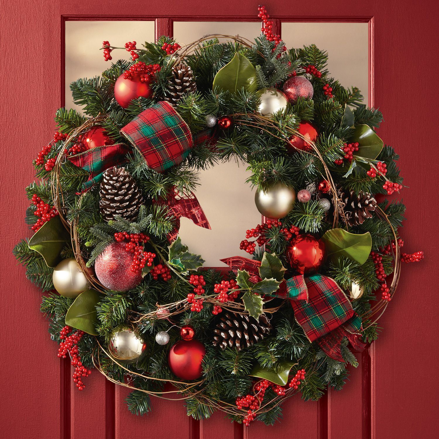 decorated christmas wreath timeless tradition 32 sams club