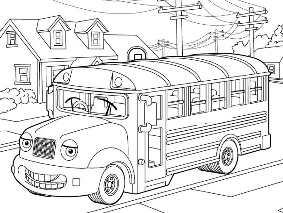 Transportation Coloring, School Bus Coloring Page For Kids ...