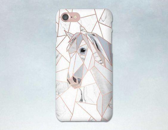 Handyhulle Geometrisches Pferd Rosegold Marmor Iphone 6 6s 5 7 Plus Samsung Iphone 6 Iphone Handy