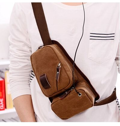 Fashion men's canvas sling bag hot sell men canvas travel sling bags washed canvas sling backpacks free shipping $21.00