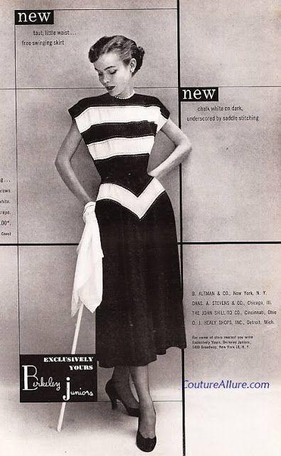 Spring 1949 By Berkeley Juniors Vintage Fashion Fashion 1940s Fashion