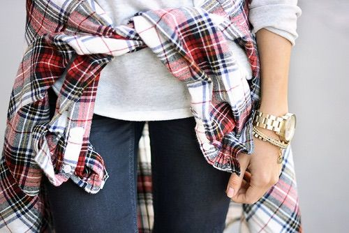 Image via We Heart It #accessories #bracelet #casual #denim #fashion #golden #jeans #red #shirt #time #watch