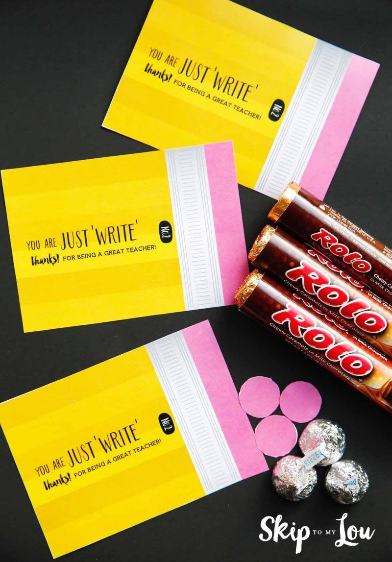 Make a rolo pencil for the cutest teacher thank you gifts