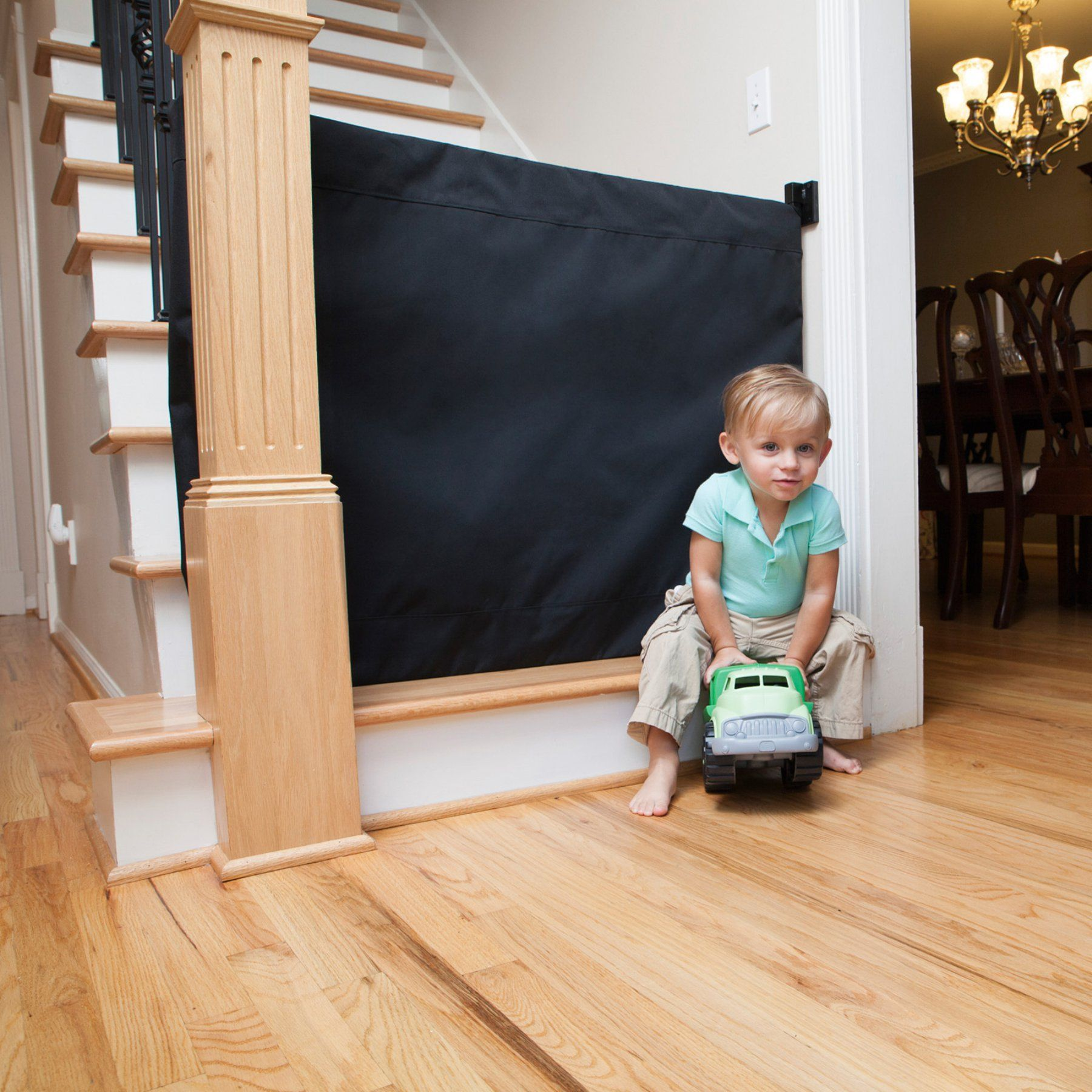 The Stair Barrier Banister to Wall Safety Gate Indoor