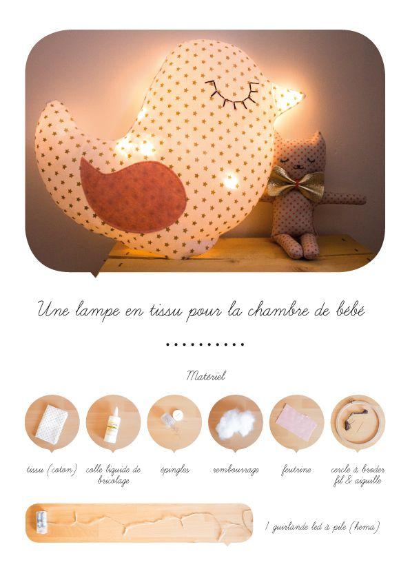 Lampe en tissu couture doudous accessoires jouets pinterest deco b b fille - Blog couture deco maison ...
