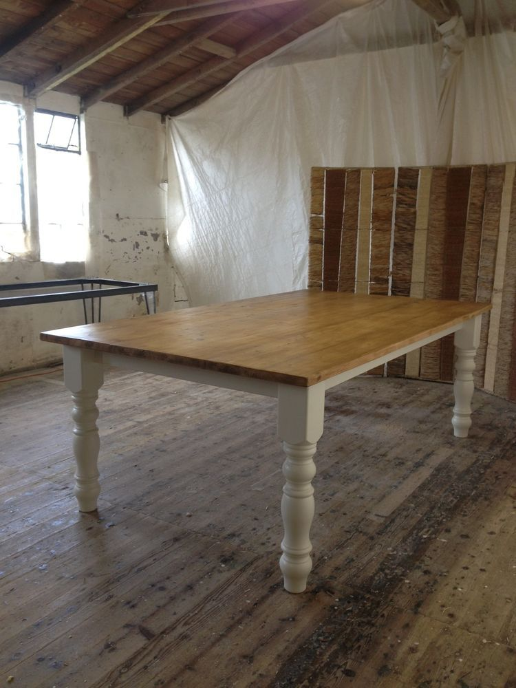 Handmade Waxed x Reclaimed Pine Shabby Chic Table Farmhouse Rustic F BHandmade 8ft x 4ft Reclaimed Pine Table Farmhouse Rustic F B  . Shabby Chic Dining Room Table Ebay. Home Design Ideas