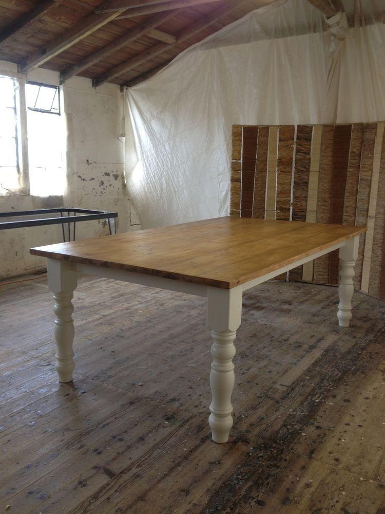 Handmade 8ft X 4ft Reclaimed Pine Table Farmhouse Rustic F B