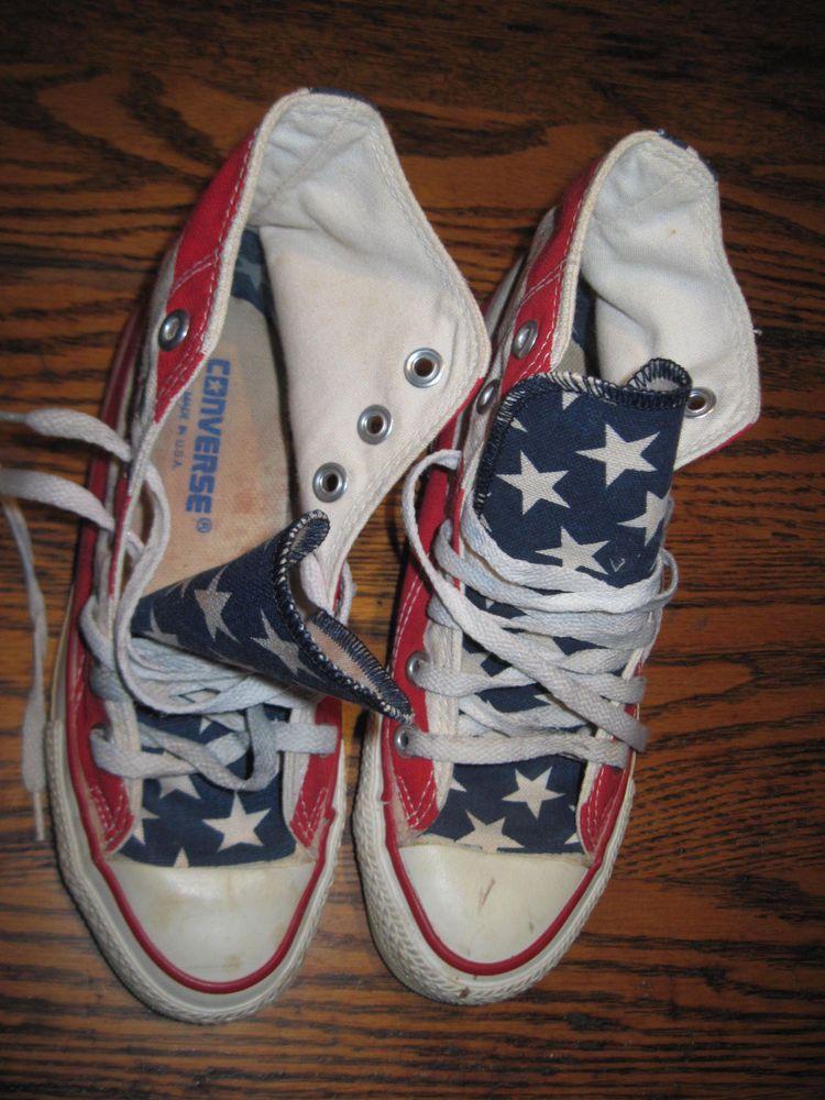 Vintage Converse Chuck Taylor All Star Flag stars & bars Hi