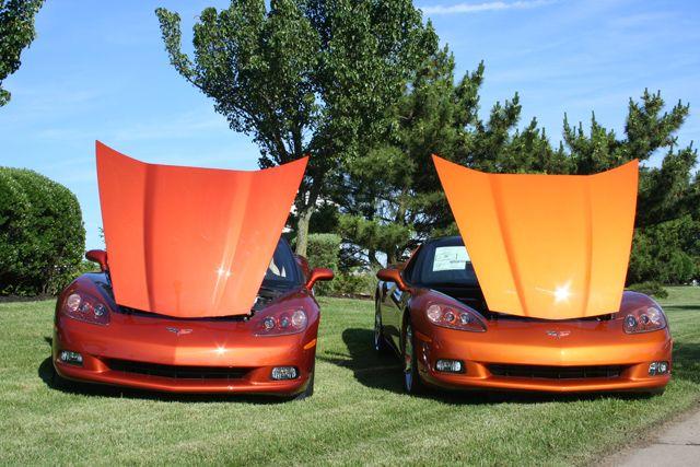 Daytona Sunset Orange Left Atomic Orange Right David S Firebird Left Corvette Orange Car Orange Color