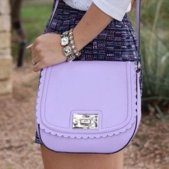 rare Kate spade lavender scalloped gently loved :) euc kate spade Bags