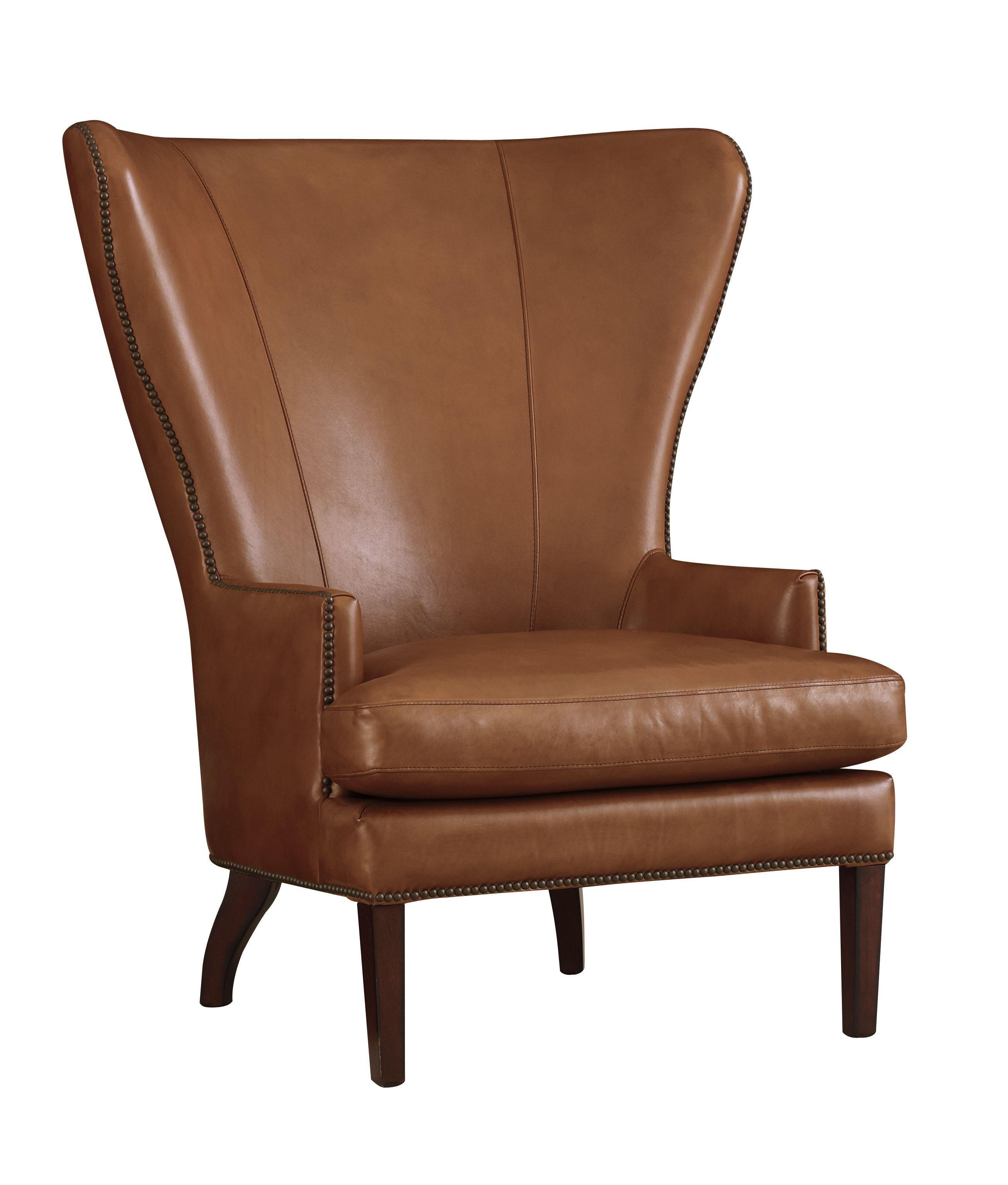 This Leather Chair From Henredon Makes A Handsome Addition To Your Living  Room Or Study.