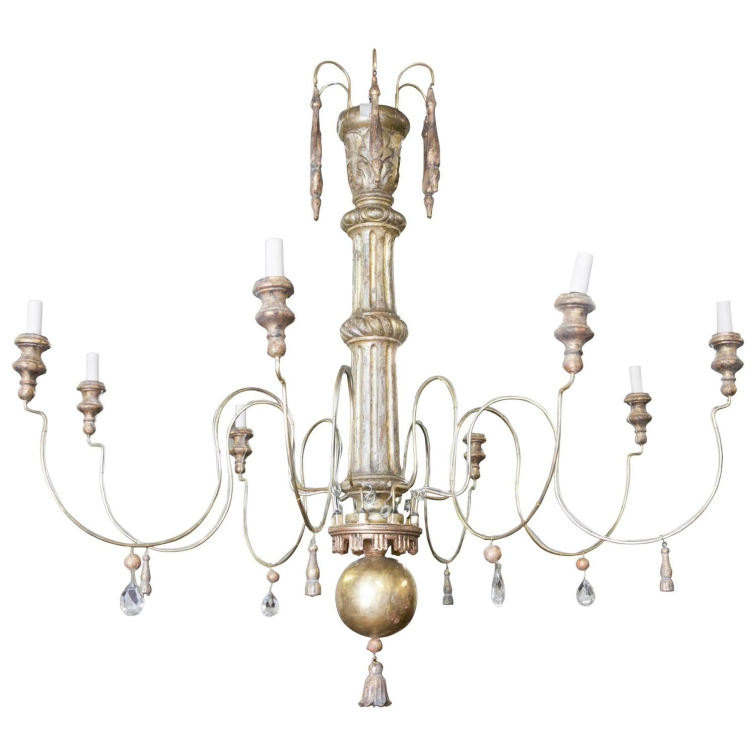 Large eightlight giltwood french chandelier french chandelier