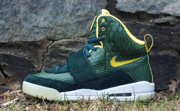 "Nike Air Yeezy 1 ""Oregon"" Custom. Never seen these before. Fucking dope."