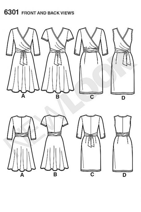 Patron N°6301 New Look : Robe portefeuille | Sewing | Pinterest ...