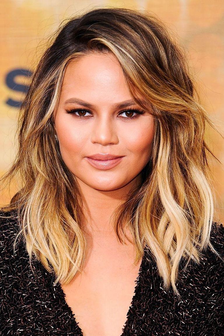 25 new ways to wear ombré hair   john legend and chrissy teigen