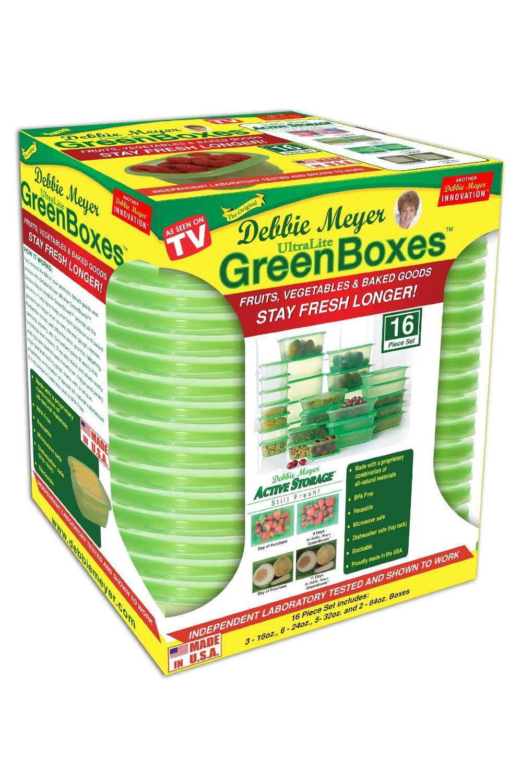 Amazon.com - Debbie Meyer Ultra Lite Green Boxes Set, 16-Piece - Food Savers
