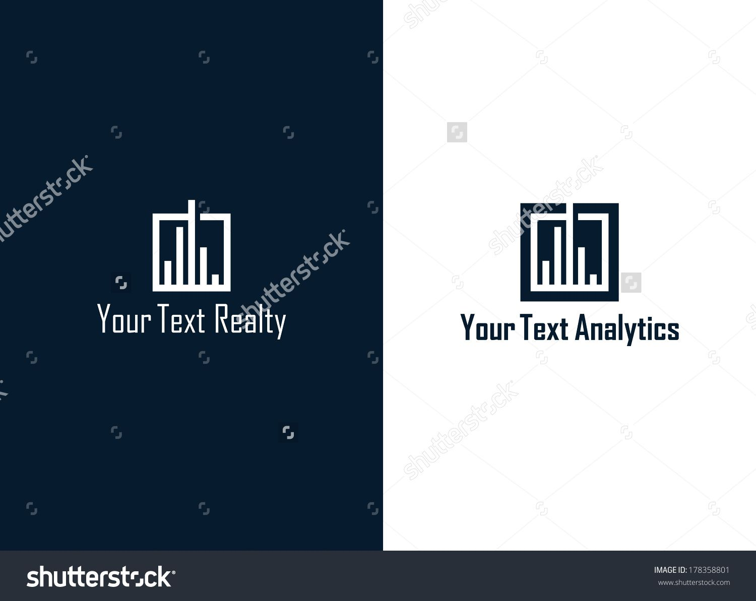 Realty Analytics Symbol Stock Vector Illustration 178358801