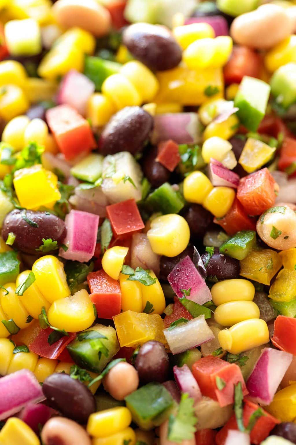 Mexican Black Bean Salad Recipe With Images Bean Salad Recipes Corn And Bean Salad Mexican Black Bean Salad