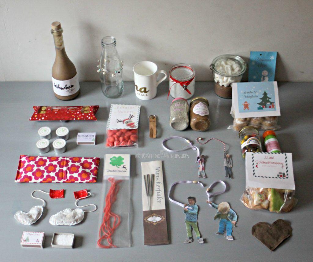 Adventskalender - kleine & schnelle Geschenke zu Weihnachten für Erwachsene - Metterschling und Maulwurfn #weihnachtsmarktideenverkauf