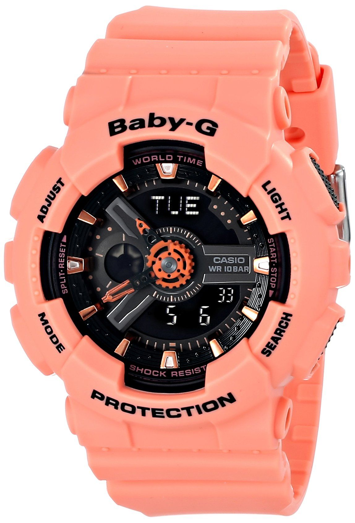 Casio Women s BA-111-4A2CR Baby-G Analog-Digital Display Quartz Orange Watch e707e0c79d