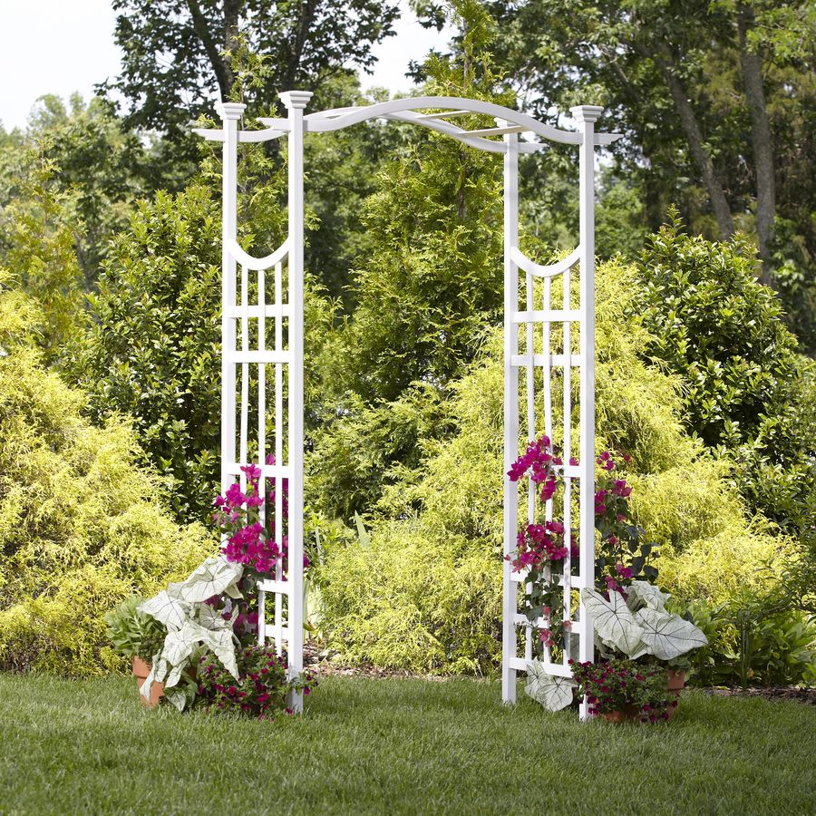 Lowes $99.99 Trellis   Shop New England Arbors 53 In W X 83.5 In · Garden  ArchesGarden ...