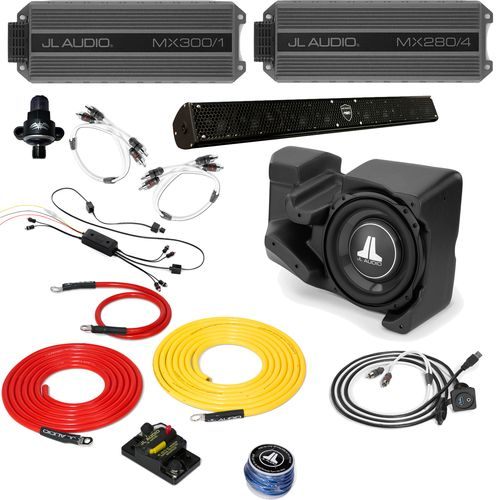 Polaris RZR 2014+ - Full System - JL Audio StealthBox & MX Amps, WetSounds sound bar, Bluetooth Receiver + Wires