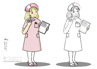 النظافة ممرضة نظيفة تعمل لتحقيق النظافة رسم وتلوين Aurora Sleeping Beauty Disney Characters Character