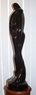 "Vintage Royal Haeger Figurine Lovers Man Lady Black Ebony Pottery Tall Embracing 20"""