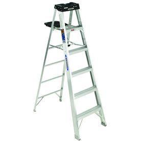 Werner 6 Ft Aluminum 300 Lb Type Ia Step Ladder Step Ladders Aluminium Ladder Ladder
