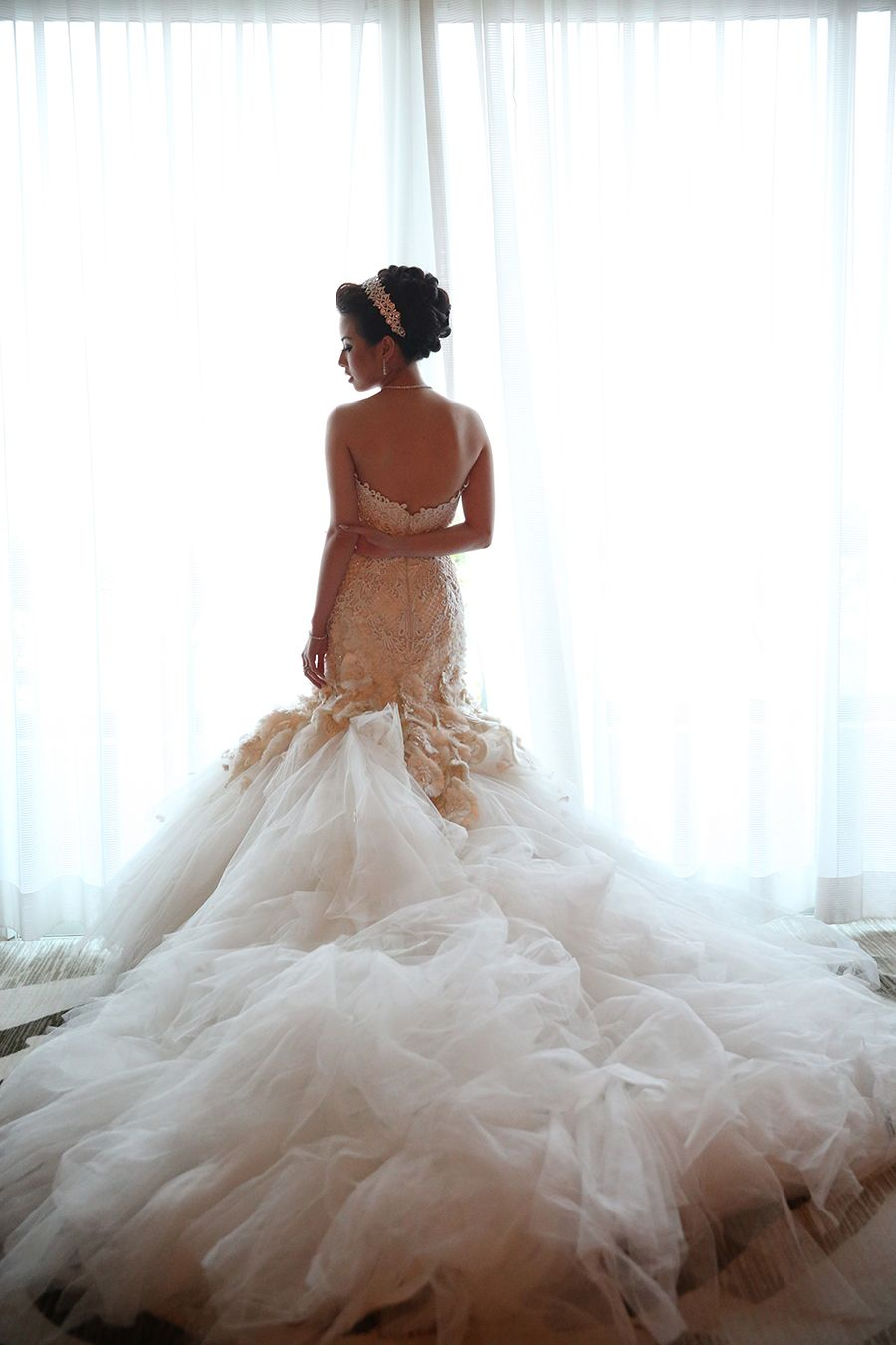 Embroidered Couture Wedding Gown By Indonesian Designer Hian Tjen Royal Indulgence Anthony And