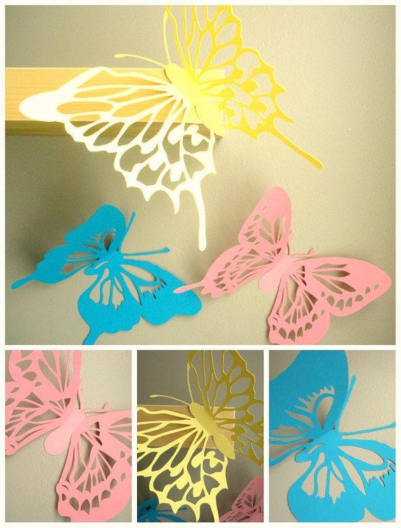 3d Wall Butterflies...Large 10 inch by SimplyNesting on Etsy, $18.00 ...